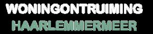 logo wit woningontruiming haarlemmermeer